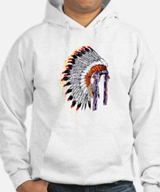 Indian Chief Headdress Hoodie
