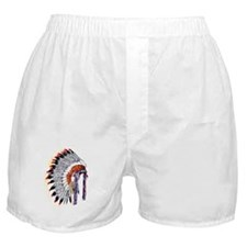 Indian Chief Headdress Boxer Shorts