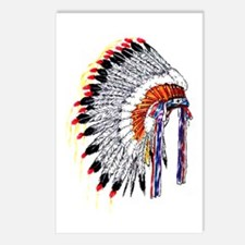 Indian Chief Headdress Postcards (Package of 8)