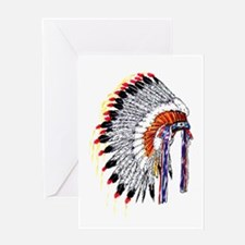Indian Chief Headdress Greeting Card