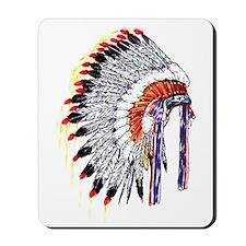 Indian Chief Headdress Mousepad