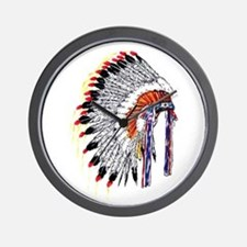 Indian Chief Headdress Wall Clock