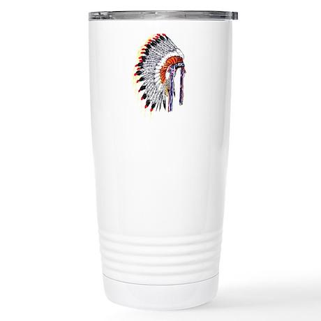 Indian Chief Headdress Stainless Steel Travel Mug