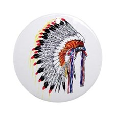 Indian Chief Headdress Ornament (Round)
