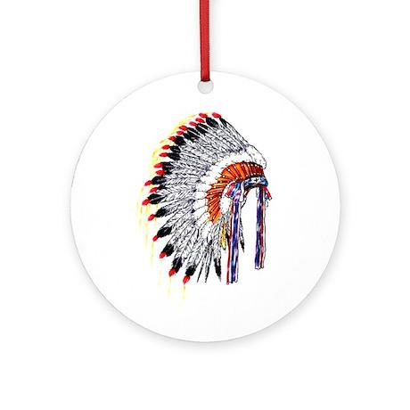 Indian Chief Headdress Ornament (Round)