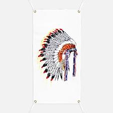 Indian Chief Headdress Banner
