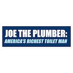 Joe: America's Richest Toilet Man Bumper Sticker