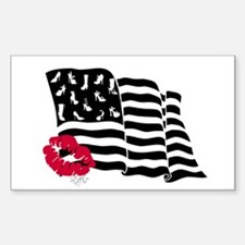 Shoes and Stripes Flag Rectangle Decal