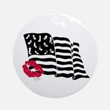 Shoes and Stripes Flag Ornament (Round)