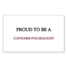 Proud to be a Consumer Psychologist Decal