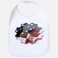 Eagle and Flag American Bib