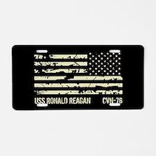 USS Ronald Reagan Aluminum License Plate