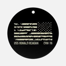 USS Ronald Reagan Round Ornament