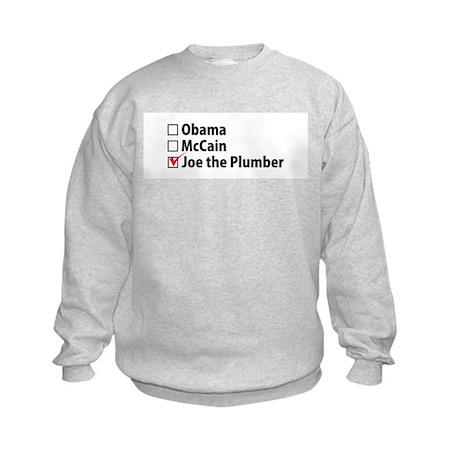 Plumber Joe for President Kids Sweatshirt
