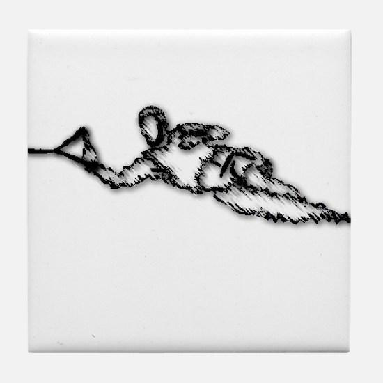 Slalom WaterSkier Tile Coaster