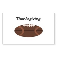 thanksgiving football Rectangle Decal