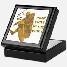 Mud Runs In My Veins Keepsake Box