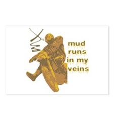 Mud Runs In My Veins Postcards (Package of 8)