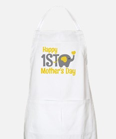 1st Mother's Day Elephant Yellow Light Apron