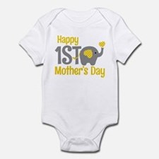 1st Mother's Day Elephant Yellow Body Suit