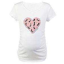 Pink Shoe Heart Shirt