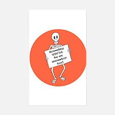 Genealogy Halloween<br> Rectangle Decal
