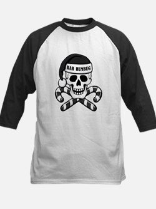 Bah Humbug Skull Kids Baseball Jersey