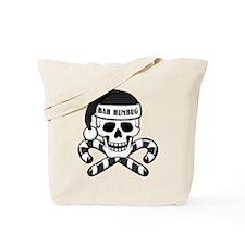 Bah Humbug Skull Tote Bag