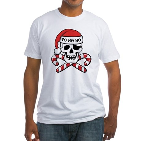 Christmas Pirate Fitted T-Shirt