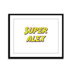 Super alex Framed Panel Print