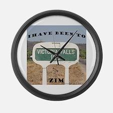 Victoria Falls Sign Post Large Wall Clock