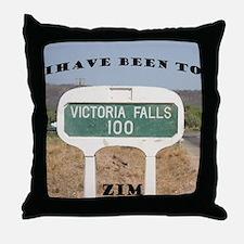 Victoria Falls Sign Post Throw Pillow