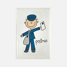 Postman Rectangle Magnet