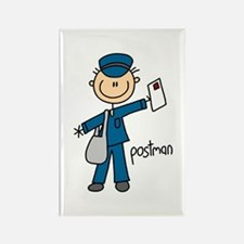Postman Rectangle Magnet (10 pack)