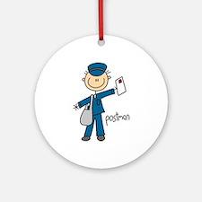 Postman Ornament (Round)