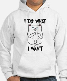 Cat Flipping Off Middle Finger Sweatshirt