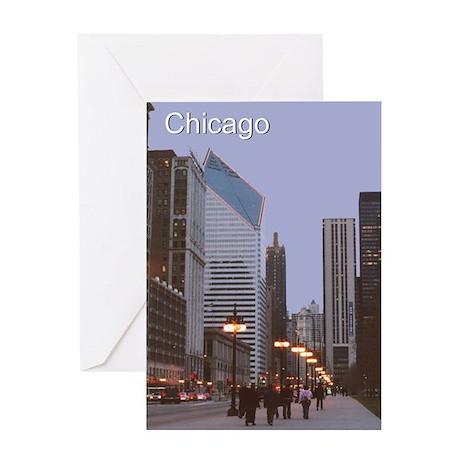 Chicago Street Lights: Greeting Card