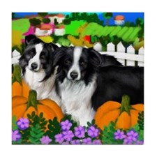 BORDER COLLIE Dogs Halloween Tile Coaster