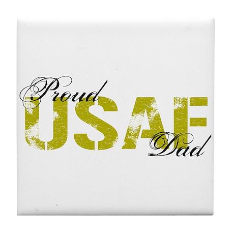 Proud Dad - USAF Tile Coaster