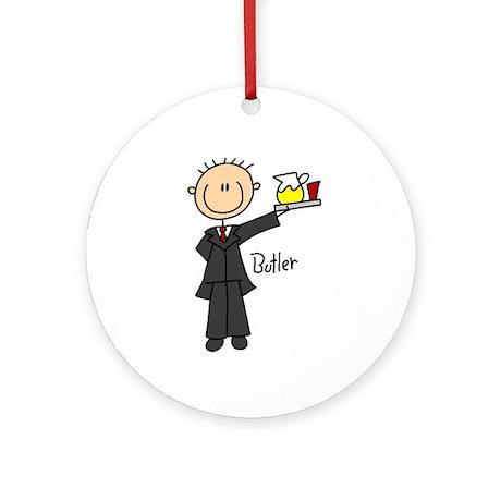 Butler Ornament (Round)