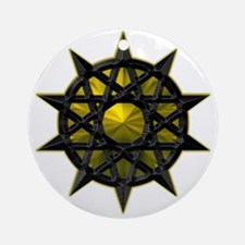 Gold Tribal Balance Pents Ornament (Round)