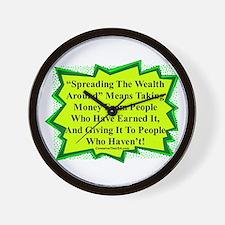 """Spread The Wealth"" Wall Clock"