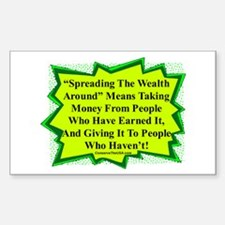 """Spread The Wealth"" Rectangle Sticker 10 pk)"