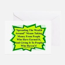 """Spread The Wealth"" Greeting Card"