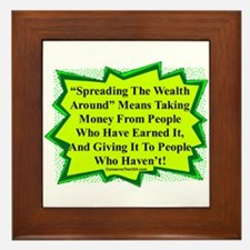 """Spread The Wealth"" Framed Tile"
