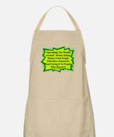 """Spread The Wealth"" BBQ Apron"