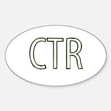 CTR - Choose the Right Oval Decal