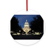 Austin Texas Capitol Ornament (Round)