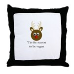 Vegan Holiday Throw Pillow