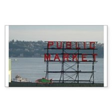Seattle Rectangle Sticker 50 pk)
